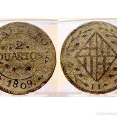 Monedas de España: 2 QUARTOS JOSÉ NAPOLEÓN 1809 BARCELONA. Lote 60818575