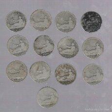 Monedas de España: LOTE DE 13 MONEDAS. GOBIERNO PROVISIONAL. 1 PESETA. 1870. VER. Lote 60982823