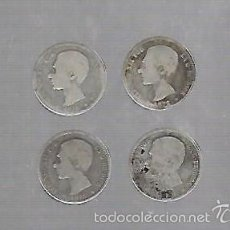 Monedas de España: LOTE DE 4 MONEDAS. 1 PESETAS. 1876. ALFONSO XII. VER IMAGENES. Lote 61314287