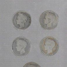 Monedas de España: LOTE DE 4 MONEDAS. 1 PESETA. 1902. ALFONSO XIII. VER FOTOS. Lote 61315723