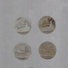 Monedas de España: LOTE DE 5 MONEDAS. GOBIERNO PROVISIONAL. UNA PESETA. 1870. VER IMAGEN. Lote 61316571
