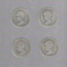 Monedas de España: LOTE DE 4 MONEDAS. 1 PESETA. 1891. ALFONSO XIII. VER FOTOS. Lote 61317247