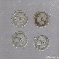 Monedas de España: LOTE DE 4 MONEDAS. 1 PESETA. ALFONSO XII. 1883. VER. Lote 61390511