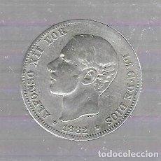 Monedas de España: MONEDA. 2 PESETAS. 1882. ALFONSO XII. VER IMAGEN. Lote 61393559