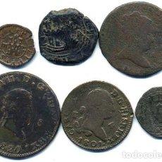 Monedas de España: 6 MONEDAS ESPAÑOLAS,. Lote 61664972
