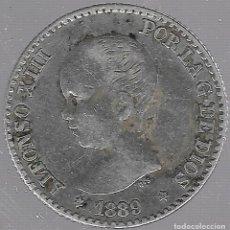 Monedas de España: MONEDA. 50 CENTIMOS. 1889. ALFONSO XIII. VER ESTRELLAS. M.P.M. Lote 61716472