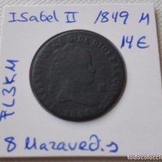 Monedas de España: ISABEL II - 8 MARAVEDIS DEL AÑO 1849 M. Lote 61799980