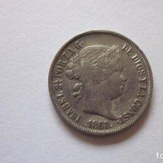 Monedas de España: 20 CENTAVOS DE PESO. ISABEL II, 1868. PLATA. PRECIOSA.. Lote 62228780