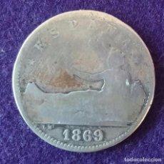 Monedas de España: 1 UNA PESETA DE PLATA. 1869. ESPAÑA. RARA. GOBIERNO PROVISIONAL.. Lote 62276476