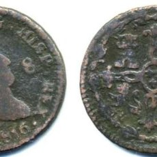 Monedas de España: FERNANDO VII, 8 MARAVEDIS 11816 DE JUBIA. Lote 62541280