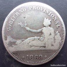Monedas de España: 1 PESETA DE 1869 ••• BC+++ ••• GOBIERNO PROVISIONAL. Lote 67365383
