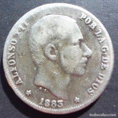 Monedas de España: 20 CENTAVOS DE PESO DE 1883 ••• MBC- ••• ALFONSO XII. Lote 62642832
