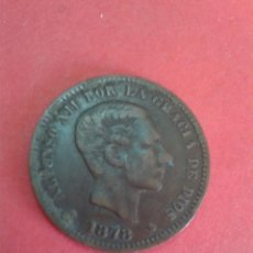 Monedas de España: ALFONSO XII. 5 CÉNTIMOS DE 1878. EBC. BELLA.. Lote 62667580
