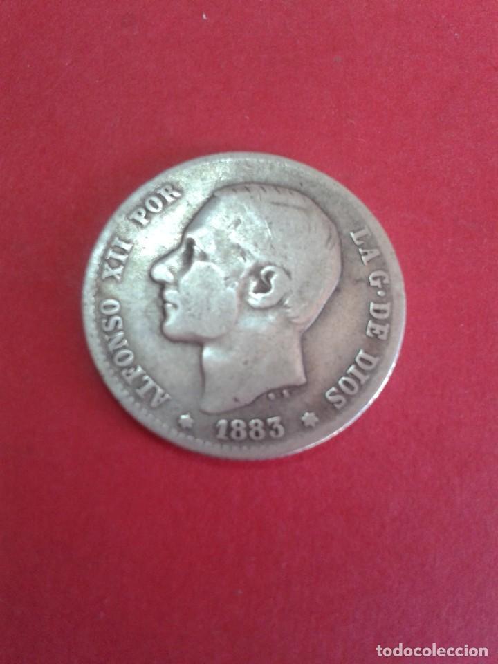 ALFONSO XII. 1 PESETA. 1883. MSM. (Numismática - España Modernas y Contemporáneas - De Isabel II (1.834) a Alfonso XIII (1.931))