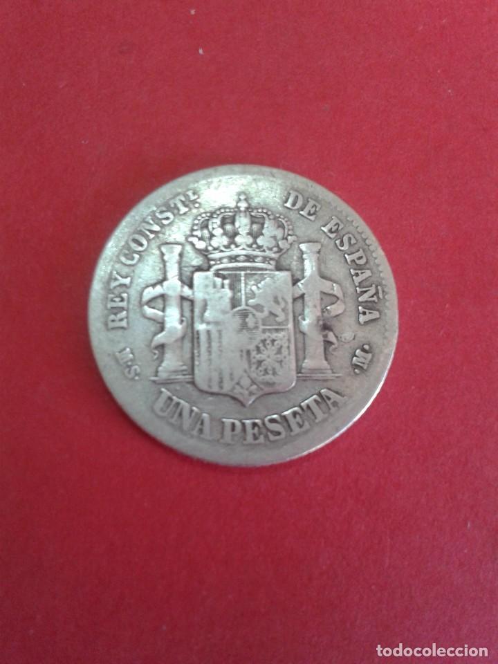 Monedas de España: ALFONSO XII. 1 PESETA. 1883. MSM. - Foto 2 - 62667848