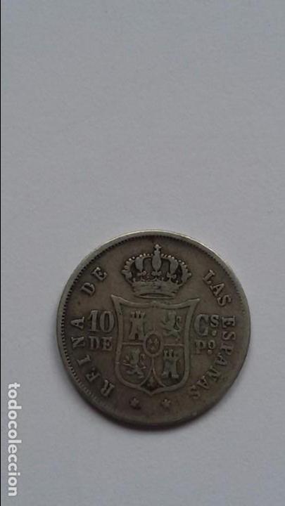MONEDA DE 10 CENTIMOS 1868. ISABEL 2ª (Numismática - España Modernas y Contemporáneas - De Isabel II (1.834) a Alfonso XIII (1.931))