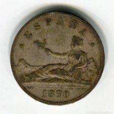 Monedas de España: 5 PESETAS GOBIERNO PROVISIONAL 1870 *18 *70 PLATA. Lote 30297226