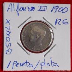 Monedas de España: ESPAÑA - 1 PESETA DEL AÑO 1900 - ALFONSO XIII - PLATA. Lote 63449452