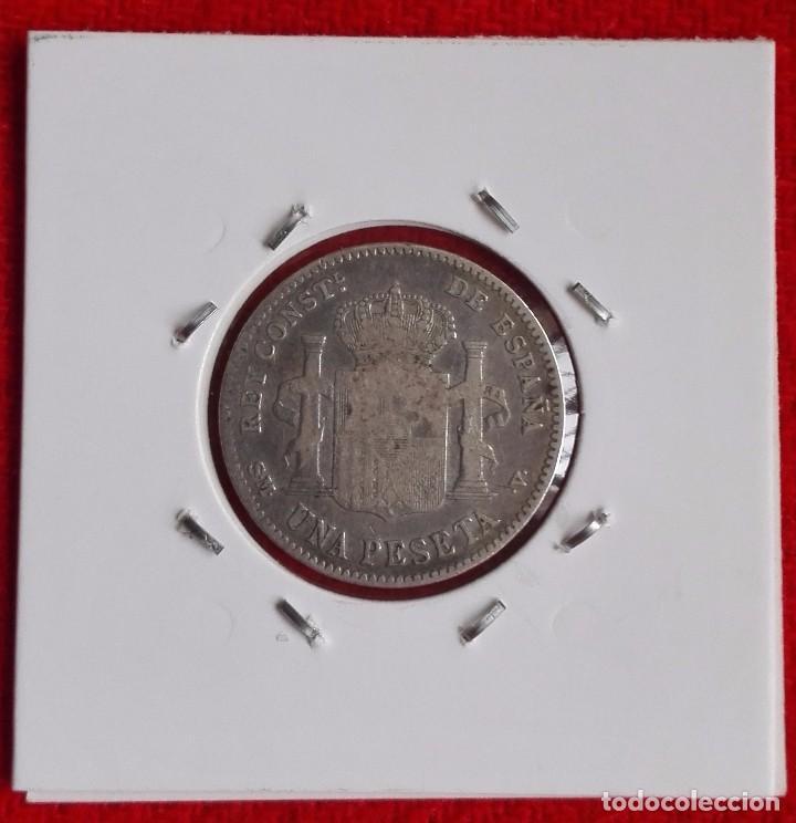 Monedas de España: ESPAÑA - 1 PESETA DEL AÑO 1900 - ALFONSO XIII - PLATA - Foto 2 - 63449452