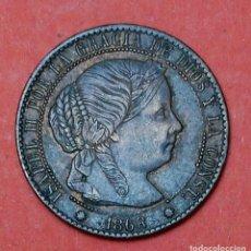 Monedas de España: ISABEL II : 1 CENTIMO DE ESCUDO 1868 BARCELONA. Lote 63522316