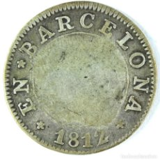 Monedas de España: 1 PESETA 1812 BARCELONA PLATA SILVER. Lote 64195255