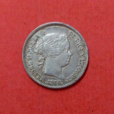 Monedas de España: ISABEL II : 1 REAL 1860 MADRID (PLATA). Lote 64576755