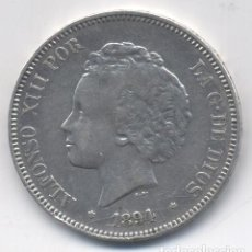 Monedas de España: ALFONSO XIII- 5 PESETAS- 1894*18-94-PGV. Lote 104402803