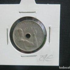 Monedas de España: 25 CENTIMOS 1934 SIN CIRCULAR - BONITA PATINA. Lote 64733631