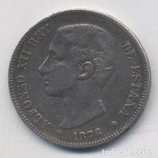 Monedas de España: ALFONSO XII- 5 PESETAS- 1876*76-DEM. Lote 65662946