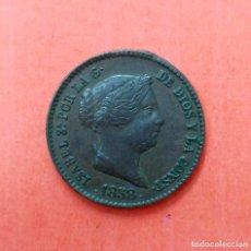 Monedas de España: ISABEL II - 10 CENTIMOS DE REAL - SEGOVIA 1858 - RARA. Lote 65669322