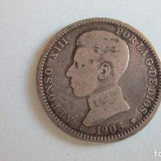 Monedas de España: PESETA DE 1905. ALFONSO XIII. PLATA. ESCASA.. Lote 65852198
