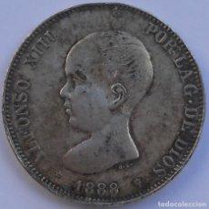 Monedas de España: 5 PESETAS - 1888 - FALSA DE ÉPOCA - FALSO - ALFONSO XIII. Lote 65861698