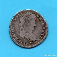 Monedas de España: 1 REAL FERNANDO VII ZACATECAS 1820 A.G. - PLATA. Lote 66034286
