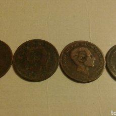 Monedas de España: 5 CENTIMOS 1870 1877 1878 1879 (349). Lote 66052543