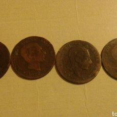 Monedas de España: 5 CÉNTIMOS 1870 1877 1878 1879 (350). Lote 66052705