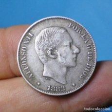 Monedas de España: 50 CENTAVOS ALFONSO XII 1882 MANILA FILIPINAS - PLATA. Lote 66068926