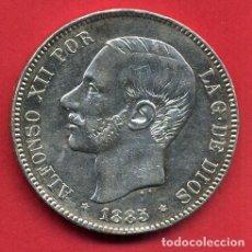 Monedas de España: MONEDA 5 PESETAS ALFONSO XII , 1885 ESTRELLAS VISIBLES 18 87 , DURO PLATA, MBC++ , ORIGINAL, D2094. Lote 66754814