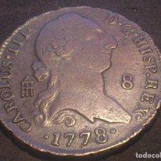 Monedas de España: MONEDA DE COBRE CAROLUS III, AÑO 1778 - 8 MARAVEDIS - SEGOVIA. Lote 67401217