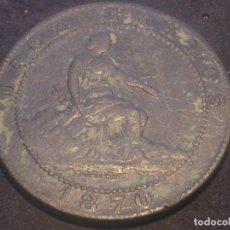 Monedas de España: MONEDA DE COBRE GOBIERNO PROVISIONAL, DIEZ CENTIMOS 1870. Lote 67402669