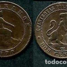 Monedas de España: ESPAÑA 2 CENTIMOS AÑO 1870 OM ( TIO SENTADO - GOBIERNO PROVISIONAL - LEON ) Nº6. Lote 67583385