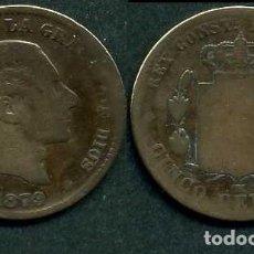 Monedas de España: ESPAÑA 5 CENTIMOS AÑO 1879 OM ( ALFONSO XII - REY DE ESPAÑA DE 1874 A 1885 ) Nº4. Lote 67728249