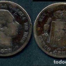 Monedas de España: ESPAÑA 5 CENTIMOS AÑO 1878 OM ( ALFONSO XII - REY DE ESPAÑA DE 1874 A 1885 ) Nº14. Lote 67734577
