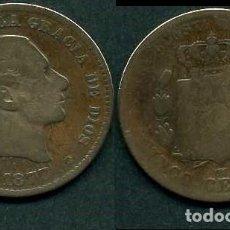 Monedas de España: ESPAÑA 5 CENTIMOS AÑO 1877 OM ( ALFONSO XII - REY DE ESPAÑA DE 1874 A 1885 ) Nº3. Lote 67746165