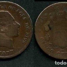 Monedas de España: ESPAÑA 5 CENTIMOS AÑO 1877 OM ( ALFONSO XII - REY DE ESPAÑA DE 1874 A 1885 ) Nº8. Lote 67748089