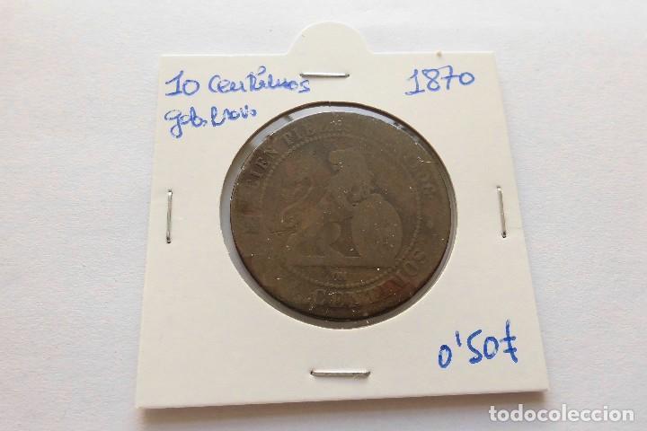 10 CENTIMOS 1870 GOBIERNO PROVISIONAL (Numismática - España Modernas y Contemporáneas - De Isabel II (1.834) a Alfonso XIII (1.931))