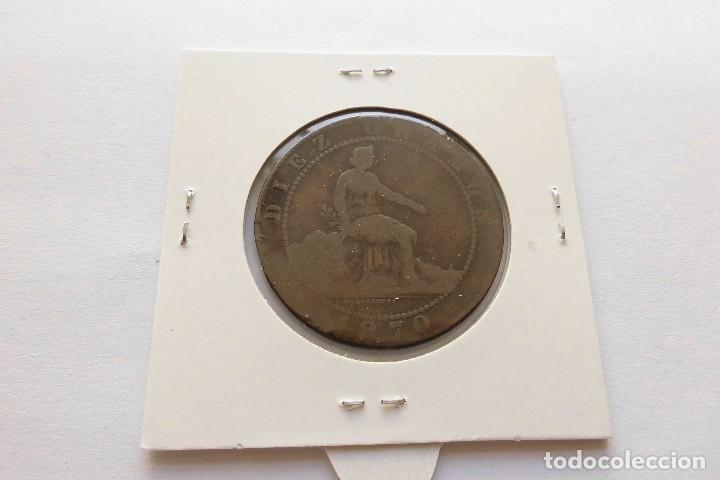 Monedas de España: 10 centimos 1870 Gobierno provisional - Foto 2 - 67798109