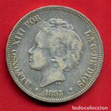 Monedas de España: MONEDA 5 PESETAS ALFONSO XIII , 1893 PGV ,ESTRELLAS VISIBLES 18 ,DURO PLATA , MBC+, ORIGINAL , D2066. Lote 67970957