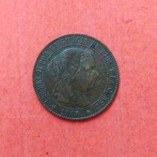 Monedas de España: ISABEL II : 1/2 CENTIMO DE ESCUDO 1867 BARCELONA. Lote 68101325