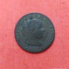 Monedas de España: ISABEL II : 1/2 CENTIMO DE ESCUDO 1867 SEVILLA. Lote 68101725