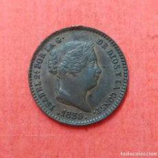 Monedas de España: ISABEL II : 5 CENTIMOS DE REAL 1859 SEGOVIA. Lote 68113565